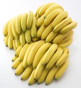 大量のバナナ